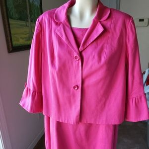 Sara Campbell Pink Sheath Dress and Jacket
